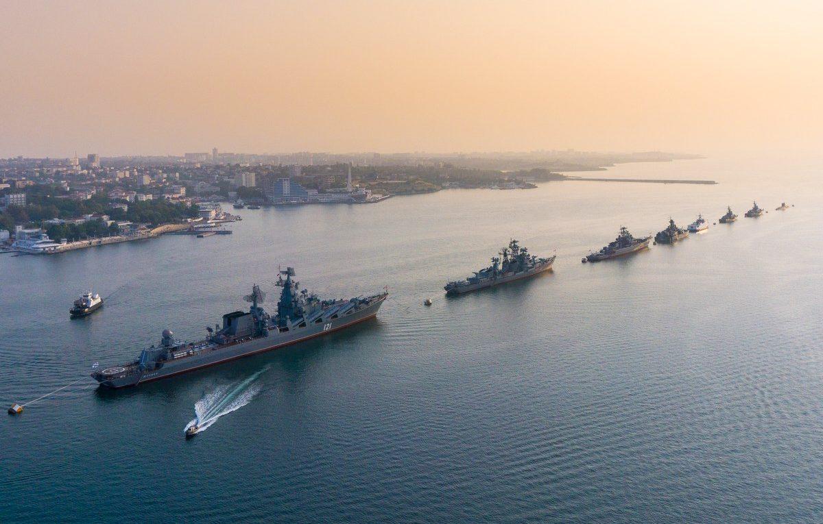 В Севастополе проведена общая тренировка Дня ВМФ