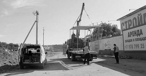 На участке строящейся трассы «Таврида» демонтирован незаконный павильон