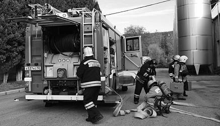 Спасатели отработали действия по ликвидации условного пожара