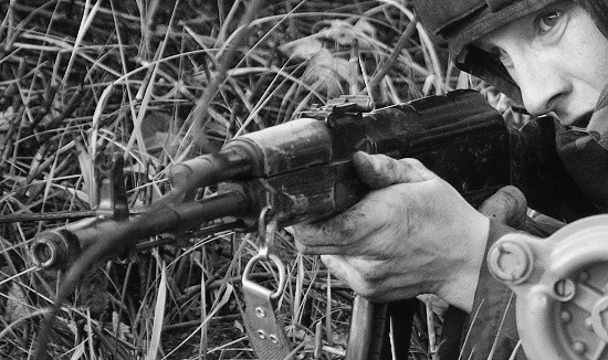 Мотострелки армейского корпуса ЧФ провели двустороннее ротное учение