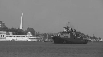 Фрегат «Адмирал Григорович» успешно сдал вторую курсовую задачу