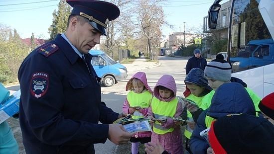Автоинспекторы организовали экскурсию «Научи ребёнка ПДД»