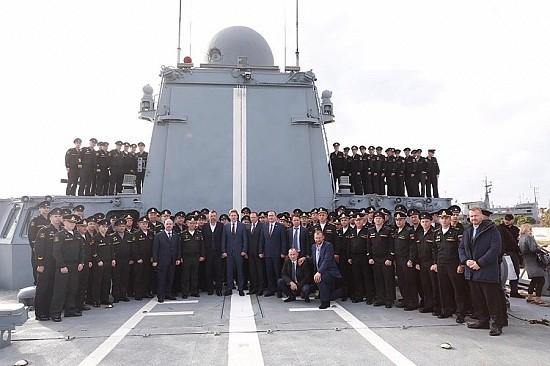 Российские моряки в Сирии