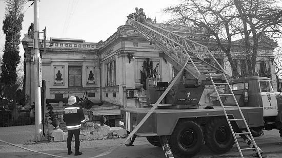 В Военно-историческом музее прошли пожарно-тактические учения