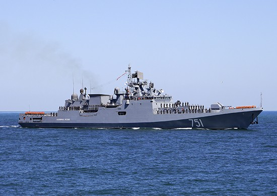 «Адмирал Эссен» выполнил ракетную стрельбу комплексом «Калибр»