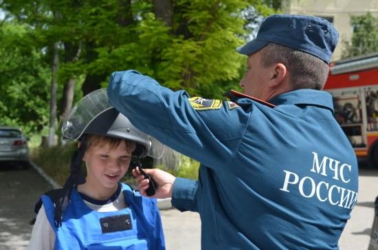 МЧС провело праздничную интерактивную программу для детей в Севастополе