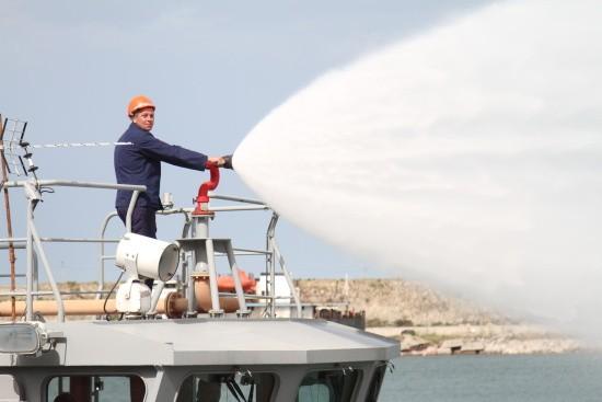 пожар в порту