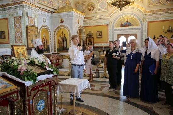 В Херсонесе осветили икону «Иоанн Кронштадтский в Ливадии»