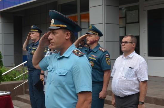 В Главном управлении МЧС России по городу Севастополю прошёл торжественный митинг