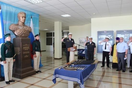 В Нахимовском училище открыли бюст Александру Казарскому