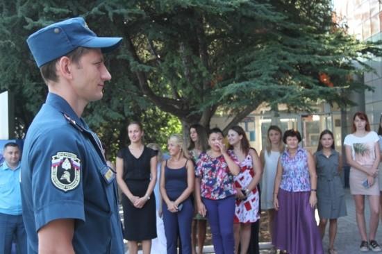 В Севастополе отработали действия по эвакуации в случае пожара