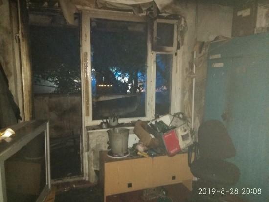 На проспекте Героев Сталинграда произошел пожар