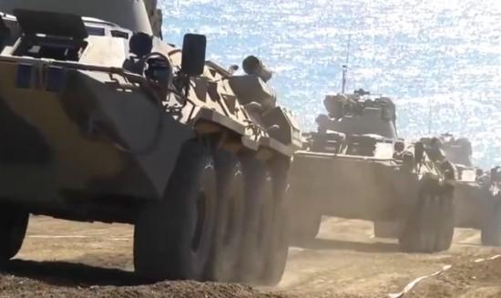 В армейском корпусе ЧФ продолжается перевод вооружения и военной техники на летний режим эксплуатации