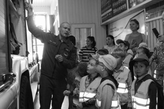 Воспитанники детского сада побывали в гостях у пожарных