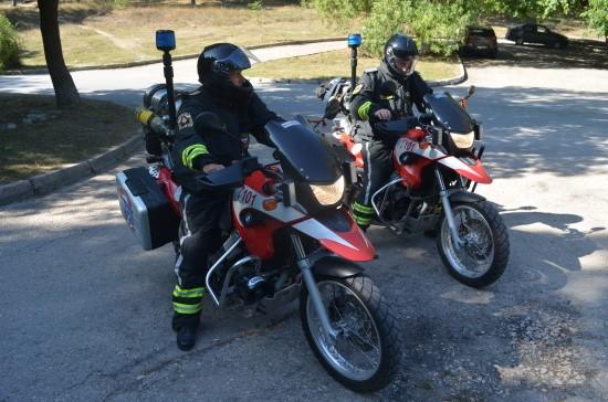 Мотопатруль МЧС на страже лесов и парков Севастополя