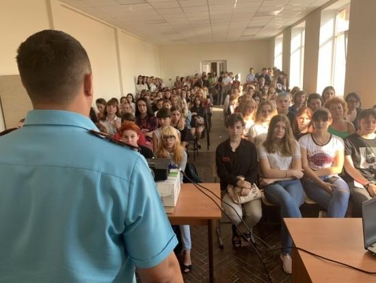 В Севастопольском профессиональном художественном колледже прошел урок безопасности
