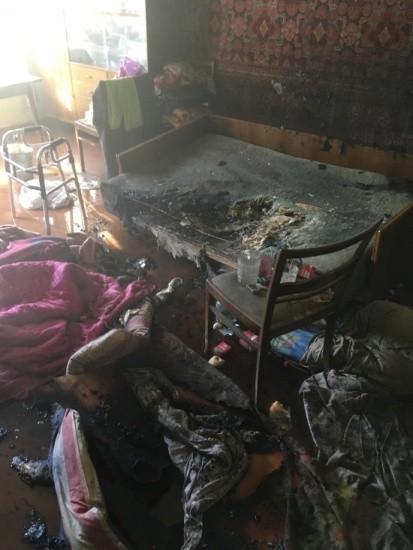 Севастопольские огнеборцы спасли на пожаре мужчину
