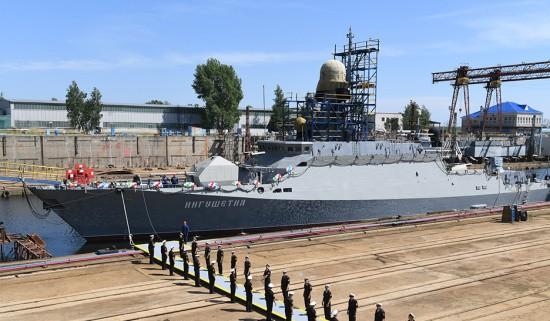 Экипаж мрк «Ингушетия» успешно провёл испытания ракетного комплекса «Калибр» и арткомплекса