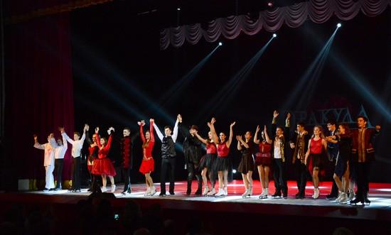 В Севастополе прошло ледовое музыкальное шоу