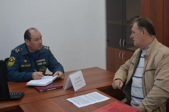 Замначальника севастопольского МЧС провёл личный приём граждан