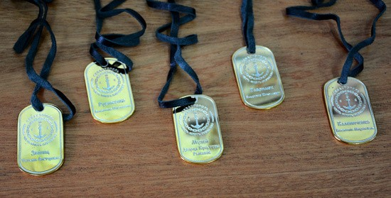 Торжественное вручение именных жетонов в честь 40-летия ДКР