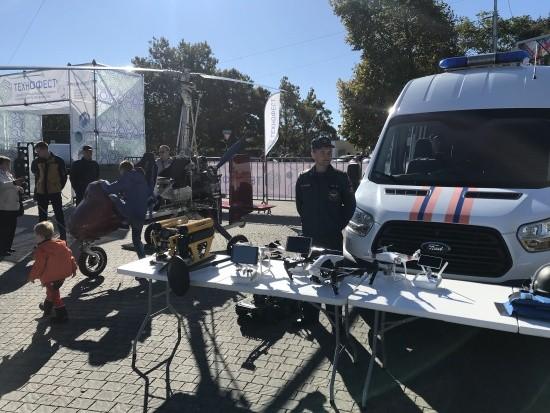 Сотрудники МЧС приняли участие в фестивале «Технофест» в Севастополе