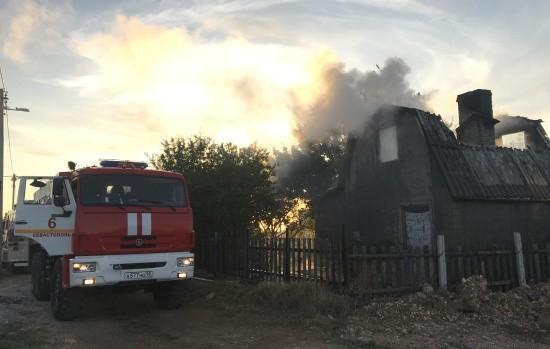 В районе мыса Фиолент сегодня горел садовый дом