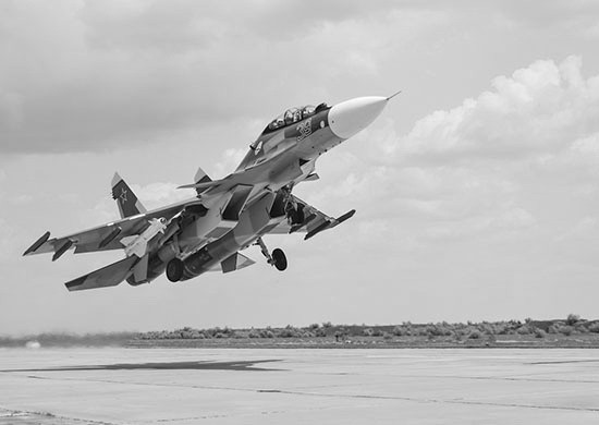 Су-30СМ провёл тренировку с экипажем нового мрк «Ингушетия»