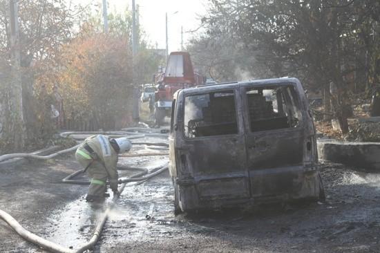 В Севастополе произошел пожар повышенного ранга на Северной стороне города (видео)