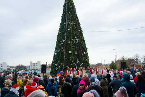 На площади Дворца культуры рыбаков открыли новогоднюю елку