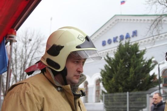 На железнодорожном вокзале Севастополя прошли учения МЧС