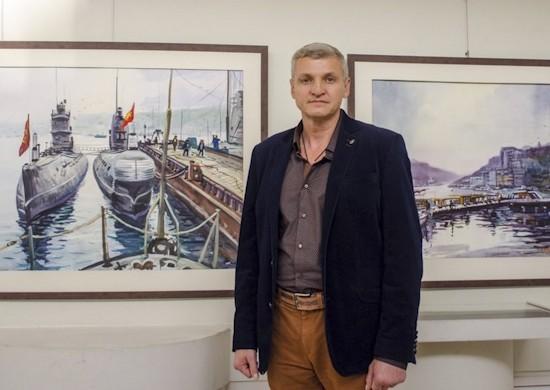 Военнослужащий ЧФ завершил работу над картиной, посвященной 75-летию Великой Победы