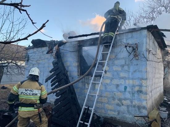 В Севастополе произошел пожар в частном доме. Один человек погиб