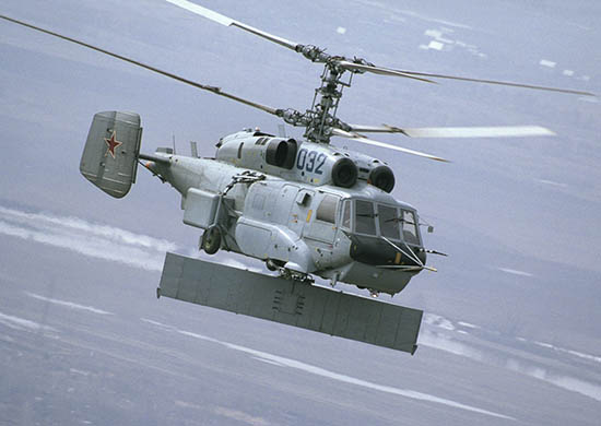 Экипаж вертолёта-разведчика Ка-31Р провёл учение в Чёрном море