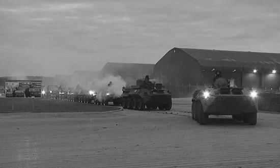 Подразделения армейского корпуса ЧФ совершили марш к местам проведения учения