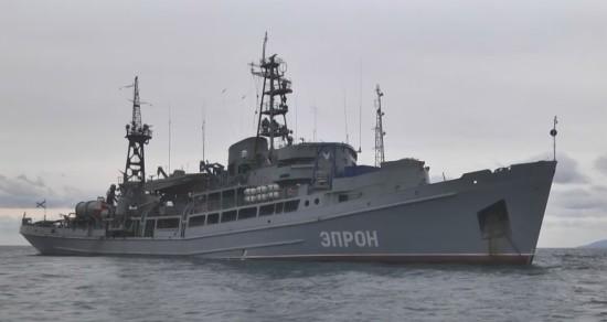 Экипаж спасательного судна ЧФ «Эпрон» завершил работы по подъёму самолёта