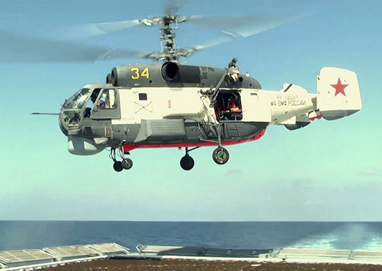 В Средиземном море экипажи вертолётов палубной авиации ЧФ провели учение