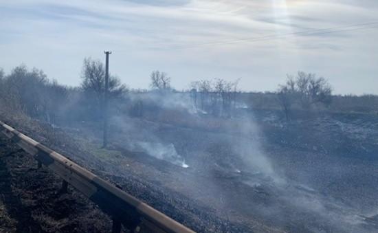 В Севастополе ликвидировали крупный природный пожар