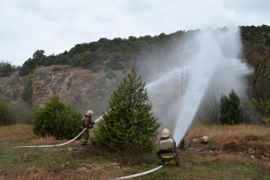 В урочище Ласпи началось круглосуточное дежурство пожарных