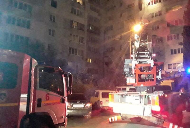 В Севастополе на пожаре спасено 11 человек