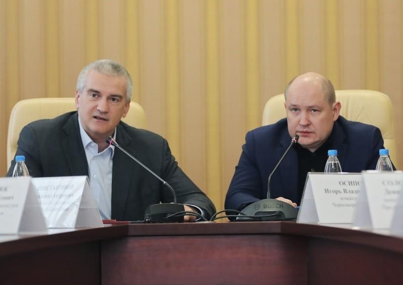 Главы Крыма и Севастополя провели совместное совещание по вопросам профилактики коронавируса