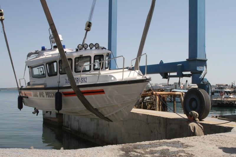 В Севастополе впервые вышел в море новый катер, полученный ГИМС