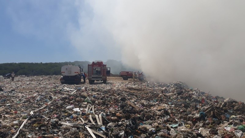 В Севастополе ведут работы по ликвидации возгорания на полигоне ТБО