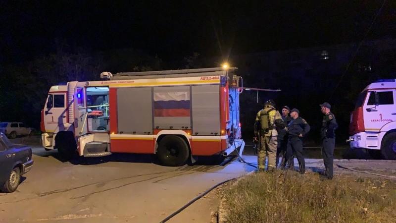 В Севастополе произошел пожар на балконе многоквартирного дома