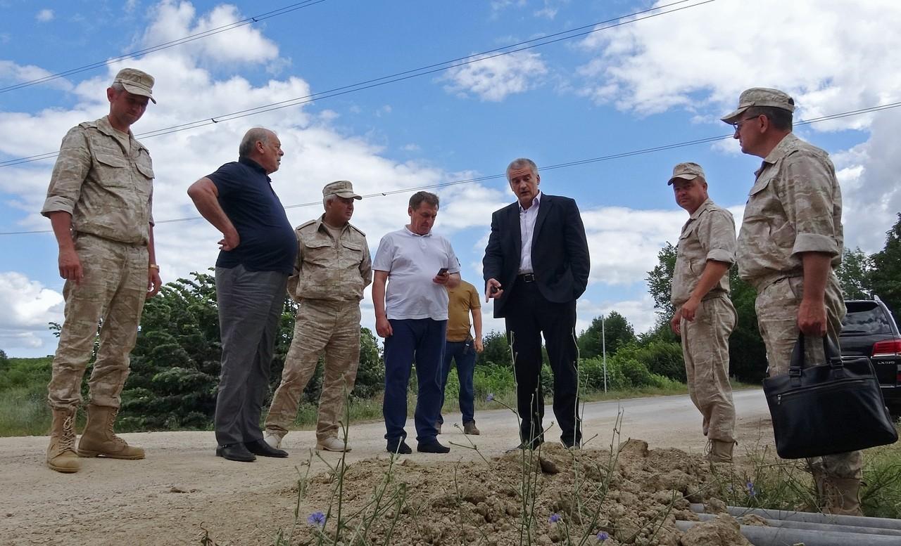 Глава Крыма посетил место строительства водовода Белогорск – Симферополь