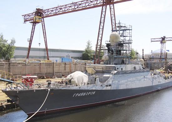 Ракетный корабль «Грайворон» совершает первый выход в море