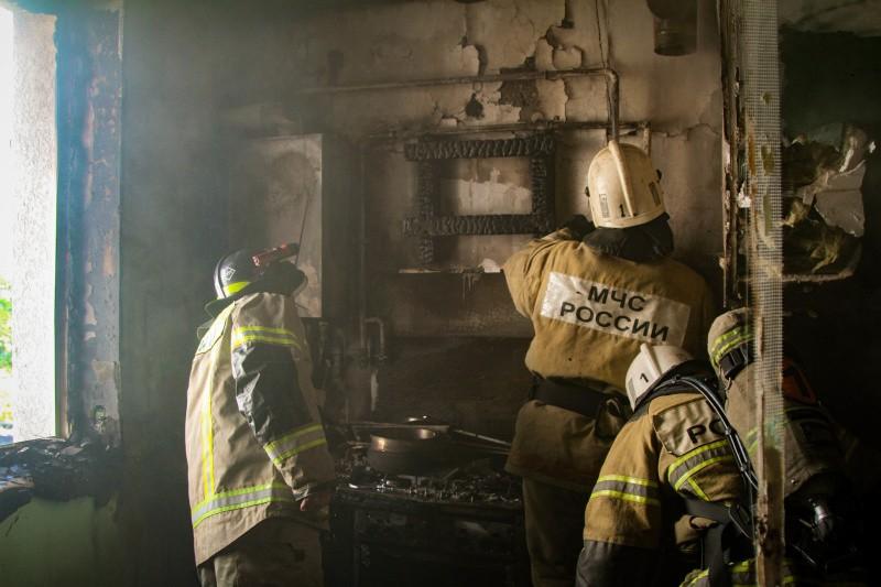 В Севастополе произошёл пожар в квартире по улице Багрия