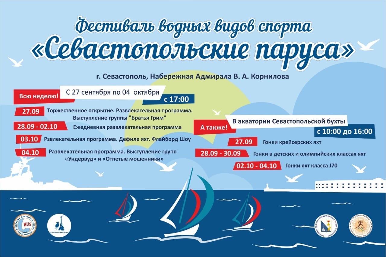 В Севастополе пройдет фестиваль водных видов спорта