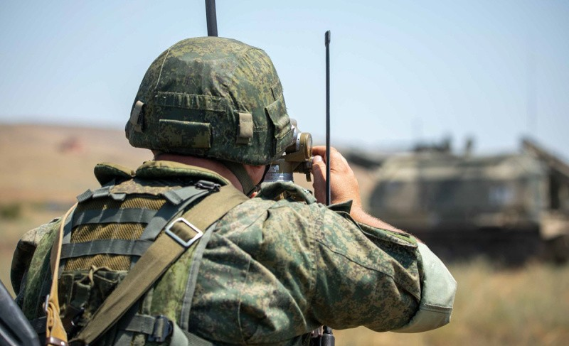 В армейском корпусе ЧФ прошла тренировка по управлению огнём артиллерии