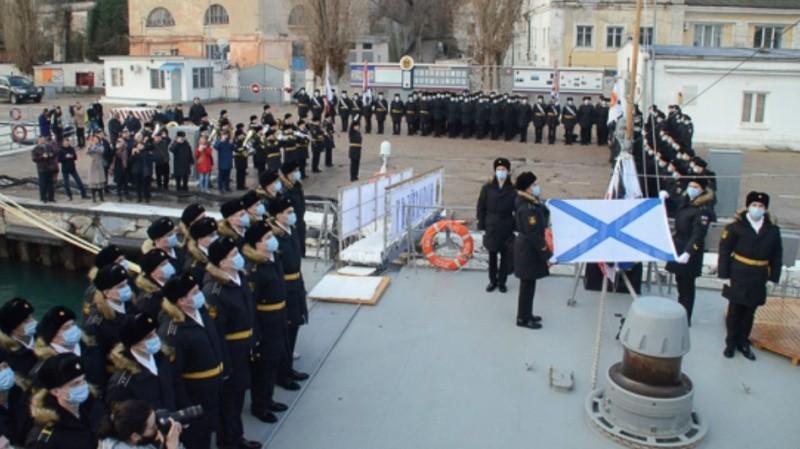 В состав Черноморского флота принят новый малый ракетный корабль «Грайворон»